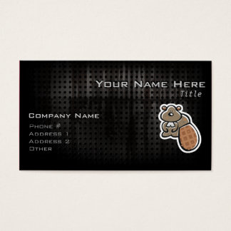 Cute Beaver; Cool Business Card