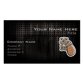 Cute Beaver; Cool Double-Sided Standard Business Cards (Pack Of 100)