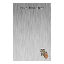 Cute Beaver; Cool Stationery