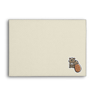 Cute Beaver Design Envelopes