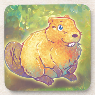 Cute Beaver Drink Coaster
