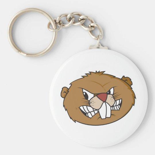 Cute Beaver Keychain