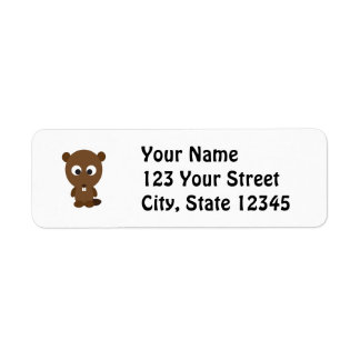 Cute Beaver Label