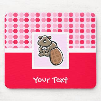 Cute Beaver Mouse Pad