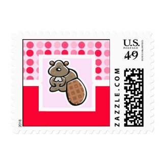Cute Beaver Postage Stamps