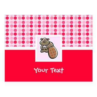 Cute Beaver Postcard