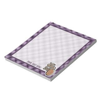 Cute Beaver; Purple Note Pads