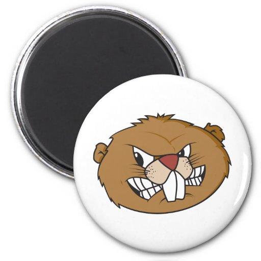 Cute Beaver Refrigerator Magnet