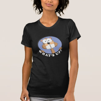 "Cute Beaver Shirt for Girls and Women ""What's up?"""