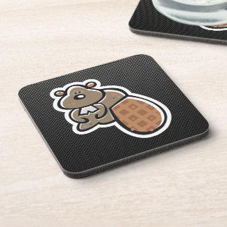 Cute Beaver; Sleek Beverage Coaster