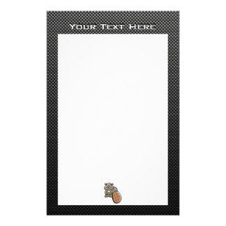 Cute Beaver; Sleek Stationery