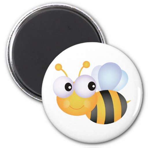 Cute Bee 2 Inch Round Magnet
