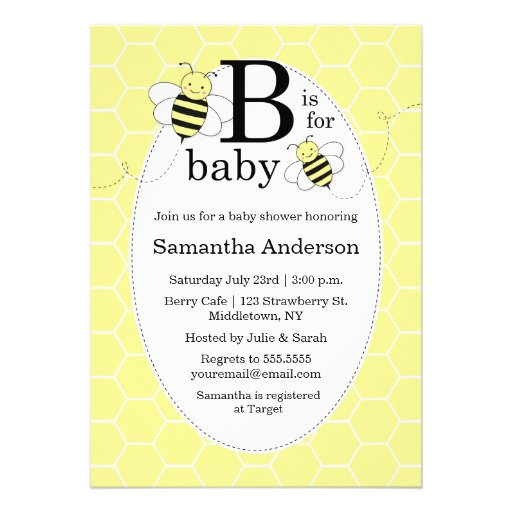 themed baby shower invitations bee themed baby shower announcements