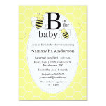 "Cute Bee Baby Shower Invitation - Gender Neutral 5"" X 7"" Invitation Card"