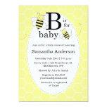 "Cute Bee Baby Shower Invitation - Gender Neutral 5"" X 7"" Invitation Card"