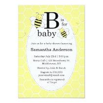 Cute Bee Baby Shower Invitation - Gender Neutral
