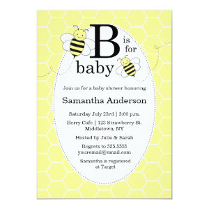 Bumble Bee Baby Shower Invitations Cute Baby Shower Invitations