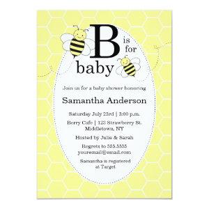 Cute Bee Baby Shower Invitation   Gender Neutral 5