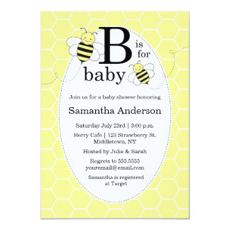 Cute Bee Baby Shower Invitation - Gender Neutral