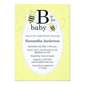 Cute Bee Baby Shower Invitation   Gender Neutral