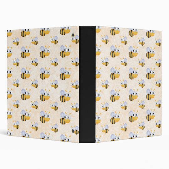 Cute Bee Binder