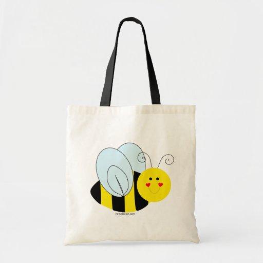 Cute Bee Budget Tote Bag