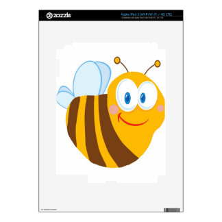 Cute Bee Cartoon Character iPad 3 Decal