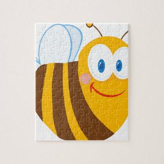 Cute Bee Cartoon Character Jigsaw Puzzle