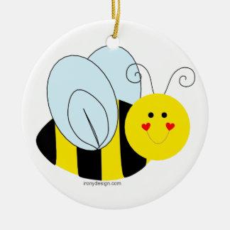 Cute Bee Ceramic Ornament