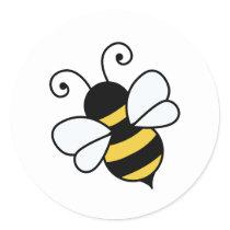 Cute bee classic round sticker