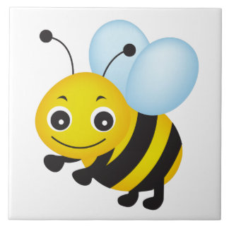 Cute bee design tile