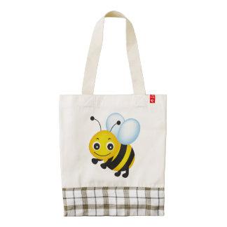 Cute bee design zazzle HEART tote bag