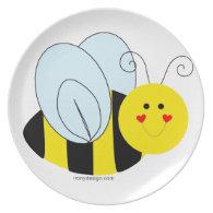 Cute Bee Dinner Plate