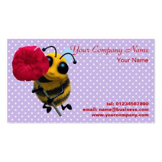 Cute Bee Flower Business Card