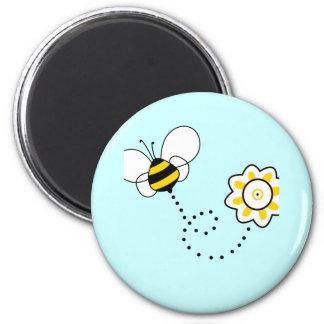 Cute Bee & Flower Fridge Magnets