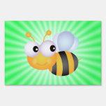 Cute Bee; Green Yard Sign