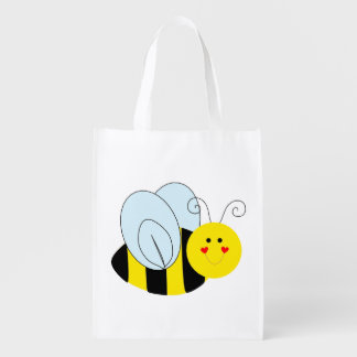 Cute Bee Grocery Bag