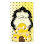 Cute Bee Hive Business Card Polka Dot