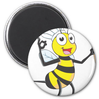 Cute Bee in Chef Outfit Delicious Magnet