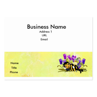 Cute Bee Laying in Flowes Calling Card Business Cards