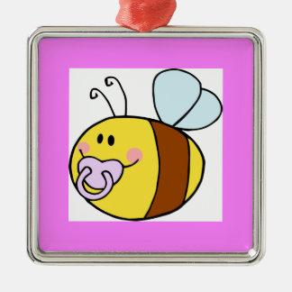 Cute Bee Metal Ornament