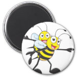 Cute Bee Mom Mum Playing with Daughter Fridge Magnet