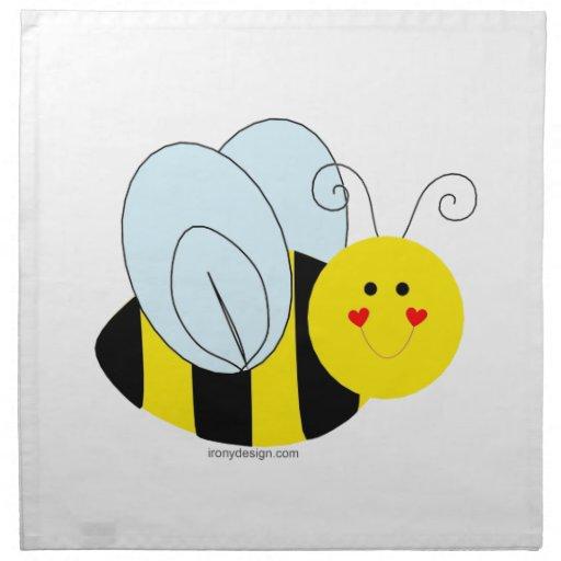 Cute Bee Napkin