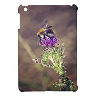 Cute bee on a thistle iPad mini covers