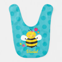 Cute Bee Personalized Baby Bib