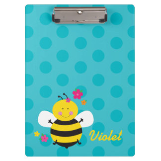 Cute Bee Personalized Clipboard
