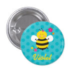 Cute Bee Personalized Pin/Button