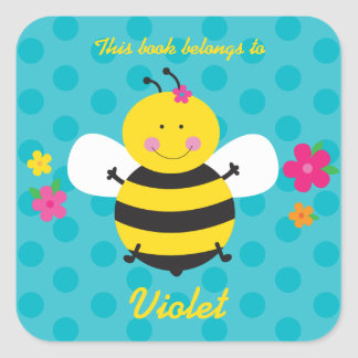 Cute Bee Personalized Sticker
