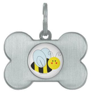 Cute Bee Pet Name Tag