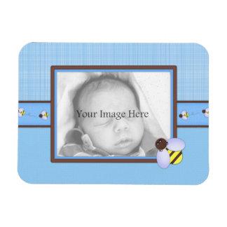 Cute Bee PhotoFrame Rectangular Photo Magnet